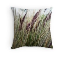 Soft Grasses Throw Pillow