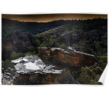 The Sacrifice Stone - Newnes State Forest Poster