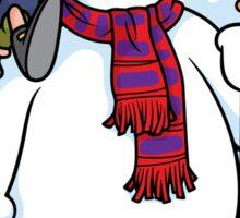 Inflatable Snowman Sticker