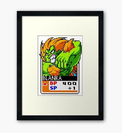 Blanka - Street Fighter Framed Print