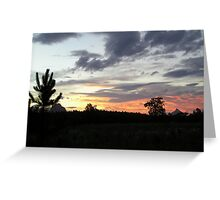 Glasshouse Sunset Greeting Card