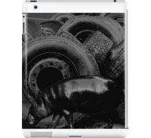 Hippo browsing used tires iPad Case/Skin