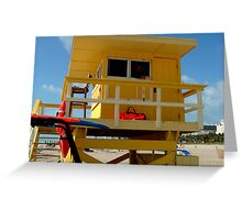 LIVING THE LIFE..GUARD Greeting Card