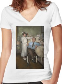 Nurse - Sick Day - 1937 Women's Fitted V-Neck T-Shirt