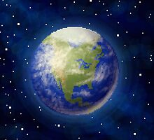 Pixel Earth by skywaker