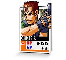 Chris Redfield Greeting Card