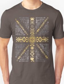 Union Jack Silver and Gold T-Shirt
