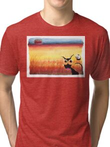 Sunny corn field Tri-blend T-Shirt