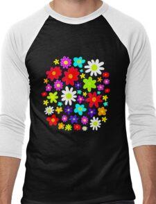 Colourful Flowers Men's Baseball ¾ T-Shirt