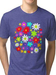 Colourful Flowers Tri-blend T-Shirt