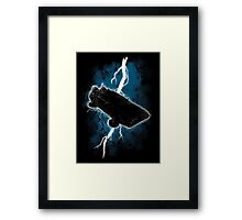The Delorean Returns Framed Print