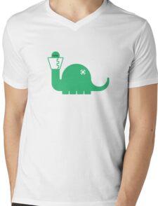 Dinosore Mens V-Neck T-Shirt