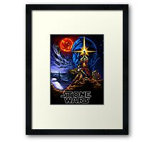 STONE WARS Framed Print
