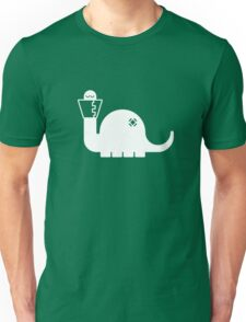 White Dinosore Unisex T-Shirt
