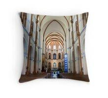 Saigon Notre-Dame Basilica Throw Pillow
