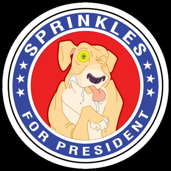 Sprinkles the Epileptic Shar-Pei for President! by Kobi-LaCroix