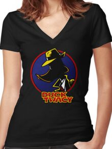 Duck Twacy Women's Fitted V-Neck T-Shirt