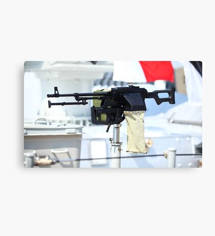 kalashnikov heavy machine gun Canvas Print