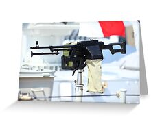 kalashnikov heavy machine gun Greeting Card