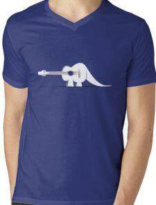 Guitarosaurus Mens V-Neck T-Shirt