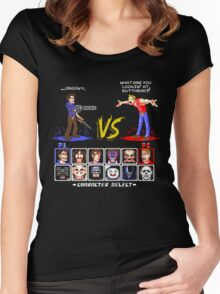 Super 80's Good Vs. Evil 2! Women's Fitted Scoop T-Shirt