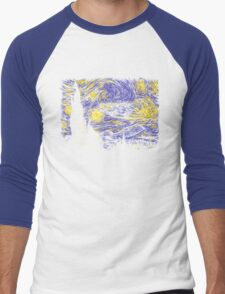 Starry Time Travel Men's Baseball ¾ T-Shirt