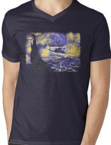 Starry Time Travel Mens V-Neck T-Shirt