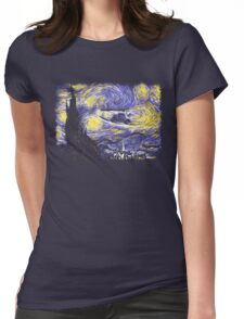Starry Time Travel Womens Fitted T-Shirt