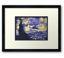 Starry Time Travel Framed Print