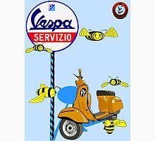 Vespa service station  Swarm Baby Blue shadow Mens V-Neck T-Shirt