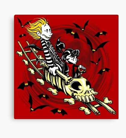 Calvydia and Beetlehobbes (Light Shirts) Canvas Print