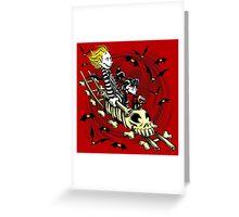 Calvydia and Beetlehobbes (Light Shirts) Greeting Card