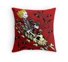 Calvydia and Beetlehobbes (Light Shirts) Throw Pillow