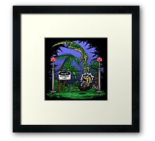 Jurassic Pounce! (Dark Shirts) Framed Print