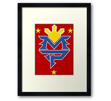 Manny Pacquiao Logo Tee - The Fight  Framed Print