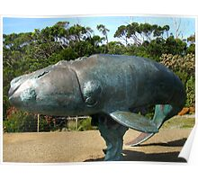 Sculpture of a Southern Right Whale Poster