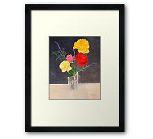 Family of Four Roses Framed Print
