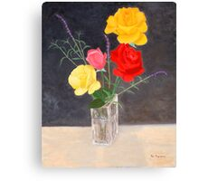 Family of Four Roses Canvas Print