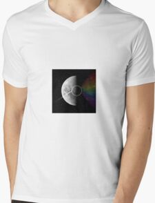 Light and Dark Side of the Moon Mens V-Neck T-Shirt