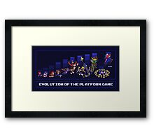Evolution of the Platform Game Framed Print