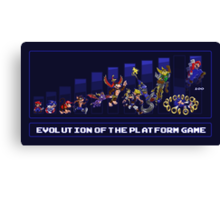 Evolution of the Platform Game Canvas Print
