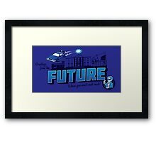 Greetings from the Future! Framed Print