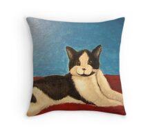Momo the Cat Throw Pillow
