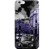 London taxi, blue version iPhone Case/Skin