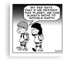 google earth Canvas Print