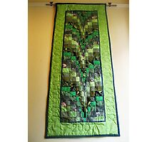 Gorgeous Green Quilted Tapestry Photographic Print