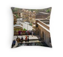 Monkey Temple, Jaipur, India Throw Pillow