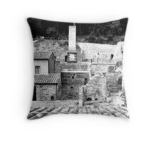 Industrial archeology Throw Pillow