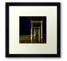 a still night at brighton beach Framed Print