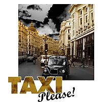 London taxi Photographic Print